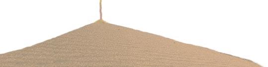 il filo del tempo si accumula in dune